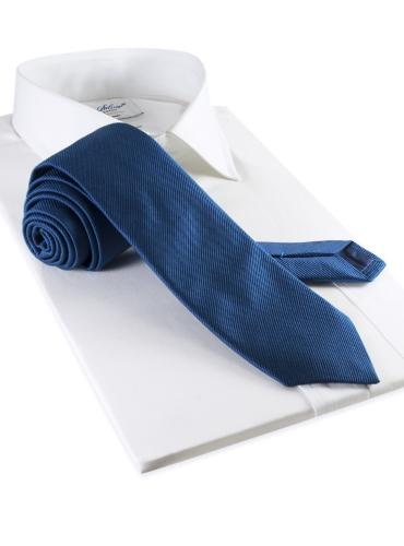 Mogador Silk Solid Signature Tie in Denim