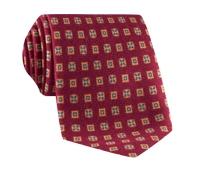 Wool & Silk Printed Neat Tie Red