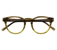 Semi-Round Frame in Olive and Lime