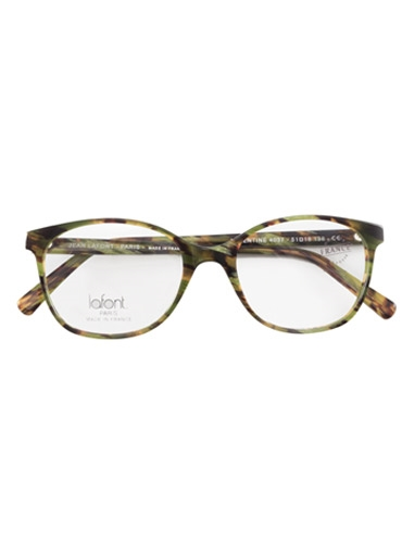 Lafont Arched Semi-Square Frames in Green and Brown