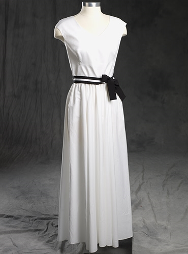 Ladies Cotton Maxi Dress White