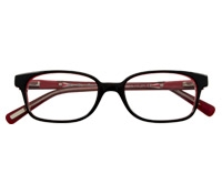 Slim Rectangular Children's Frame in Black and Red