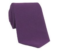Silk and Wool Solid Tie in Purple