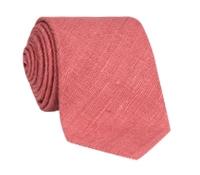 Silk Shantung Tie in Hibiscus