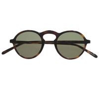 Small Round Sunglasses in Dark Tortoise