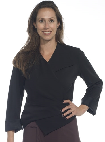 Marie Meunier Flamande Wrap Blouse in Black