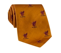 Silk Woven Griffin Motif Tie in Oak