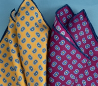 Silk Print Paisley Pocket Squares