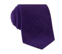 Shantung Silk Solid Tie in Violet