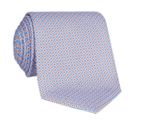Silk Printed Dots Tie in Sky