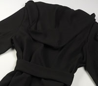 Ladies Crepe Coat in Black
