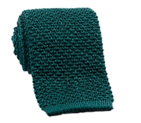 Classic Silk Knit Tie in Forest