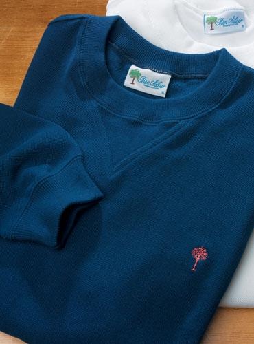 Pique Palmetto Sweatshirt in Navy