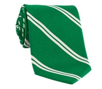 Mogador Silk Double Bar Stripe Tie in Grass