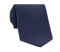 Mogador Silk Solid Tie in Navy