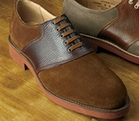The Lulworth Saddle Shoe in Snuff Suede