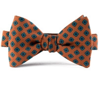 Silk Print Bow with a Diamond Motif in Beech