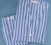 Shortie Blue Striped Pajamas