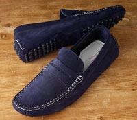 Driving Moccasins in Navy