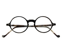 Lafont Round Frame in Black Marble