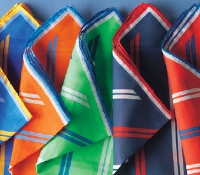 Double Bar Regimental Stripe Pocket Squares