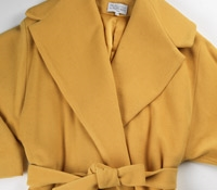 Ladies Wool Coat in Saffron