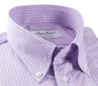 Shirt Lilac Sml Chk W/Nvy Bd