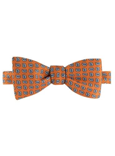 Silk Paisley Bow Tie in Marigold