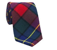 Wool Woven Plaid Tie in Tartan and Red