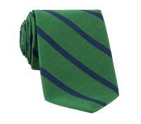 Mogador Bar Stripe Tie in Kelly and Navy