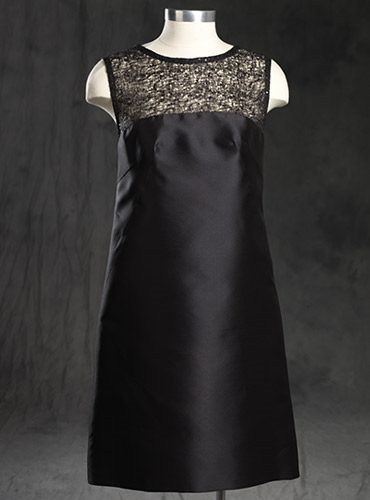 Ladies Sheath Silk Black Dress