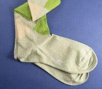 Sage, Tan, and Lime Argyle Socks