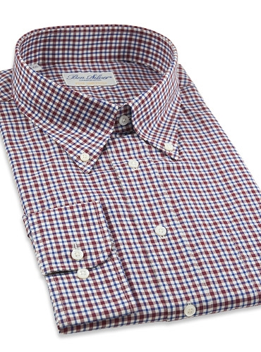 Red and Blue Plaid Button Down