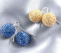 Aprosio Round Beaded Earrings
