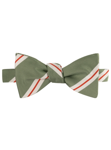 Mogador Striped Bow Tie in Olive