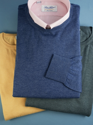 Cashmere and Silk Crewneck Sweater