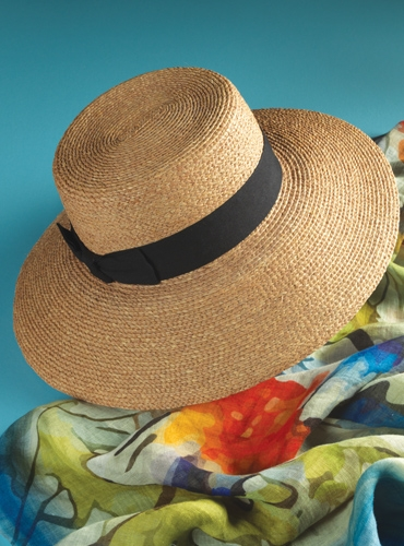 Ladies Wide Brim Straw Hat
