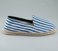 Royal and White Striped Espadrille