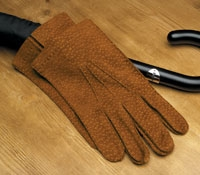 Tobacco Leather Gloves For Men