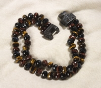 Tiger Eye Alligator Necklace