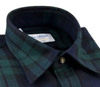 Wool Tartan Overshirt in Black Watch