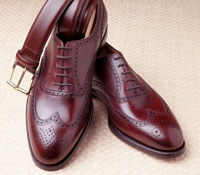 The Downing Wingtip In Burgundy