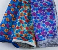 Silk Print Flower Pocket Square