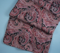 Ladies Silk Paisley Scarf in Black