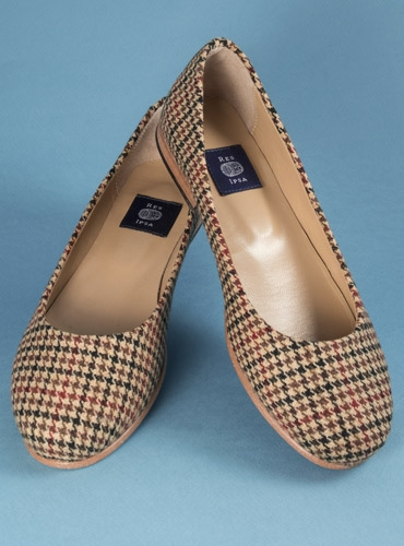 Brown and Red Houndstooth Flats