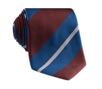Silk Multi-Stripe Tie in Ocean
