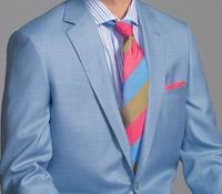 Sky Blue Wool and Silk Sport Coat