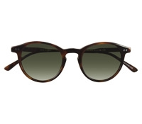 P3 Sunglasses in Brown with Green Lenses