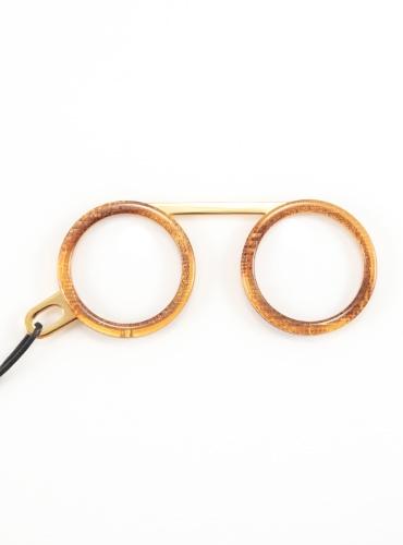 Fassamano Readers in Iridescent Caramel, 3.00 Lenses