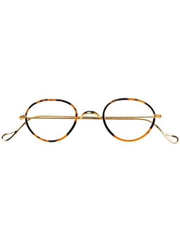 Wire Pantos Frame in Tortoise with Champagne Gold